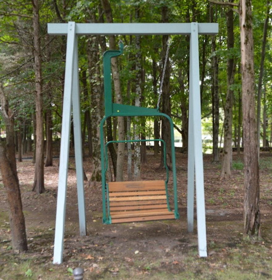 Ski Lift Swing : Original ski mountain chair lift quot swing ebth