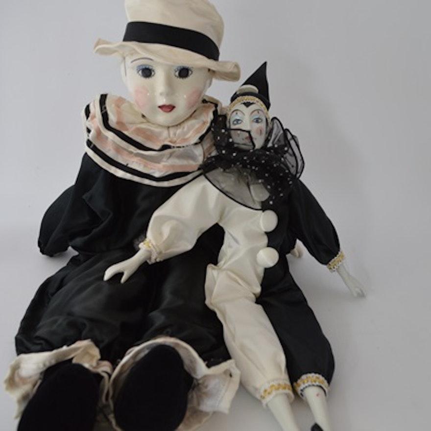 Porcelain Clown Dolls