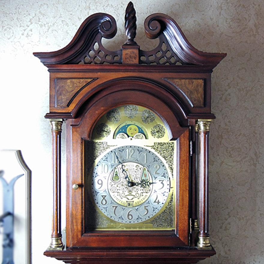 Ethan Allen Limited Edition Mahogany Grandfather Clock