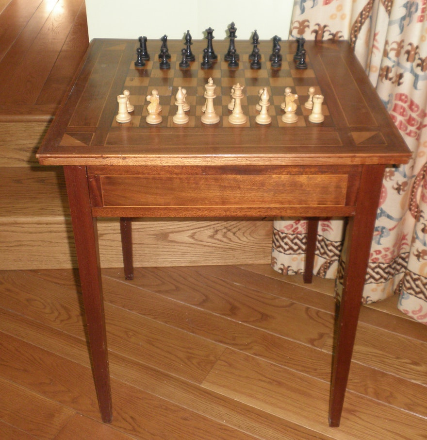 Walnut game table ebth for 11 in 1 game table