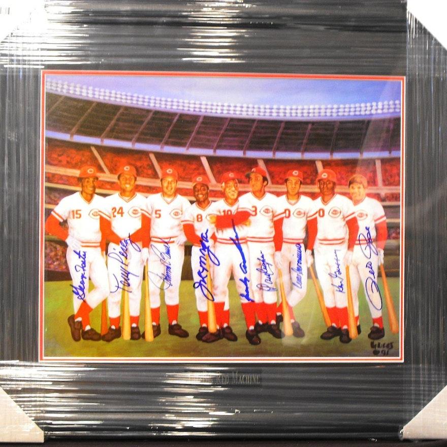 "1975/76 Cincinnati Reds ""BIG RED MACHINE"" Autographed ..."