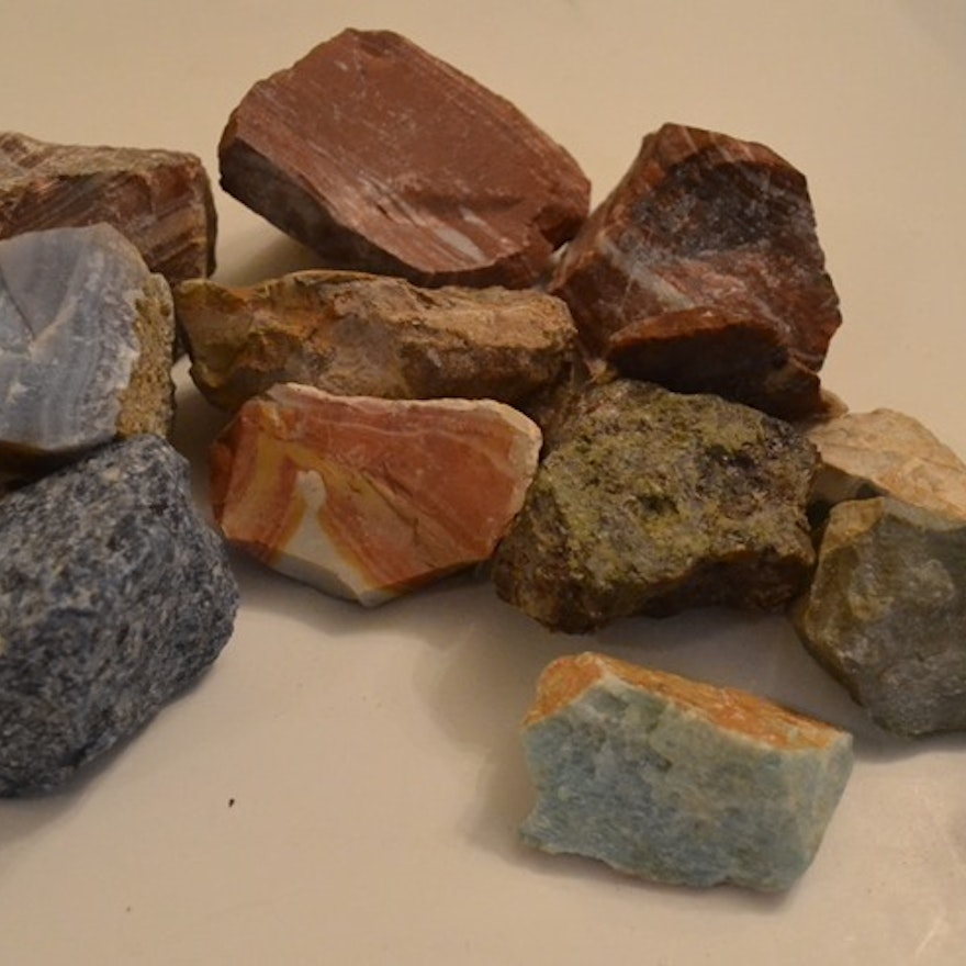 Grieger's Lapidary, Pasadena, California Rockhound Mixed Minerals Box Lot