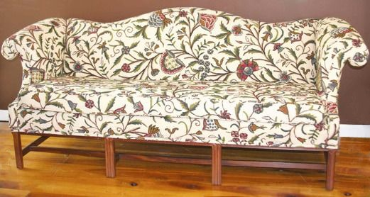 Crewel Embroidered Chippendale   Style Sofa, By Key City ...