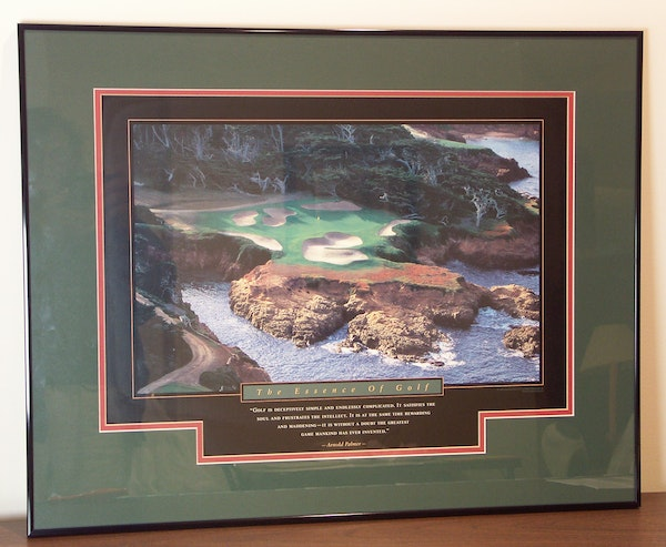 Quot The Essence Of Golf Quot Framed Arnold Palmer Poster Ebth