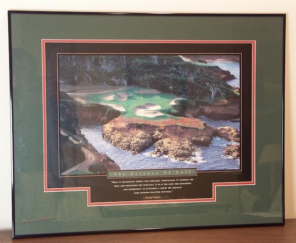 the essence of golf framed arnold palmer poster ebth. Black Bedroom Furniture Sets. Home Design Ideas
