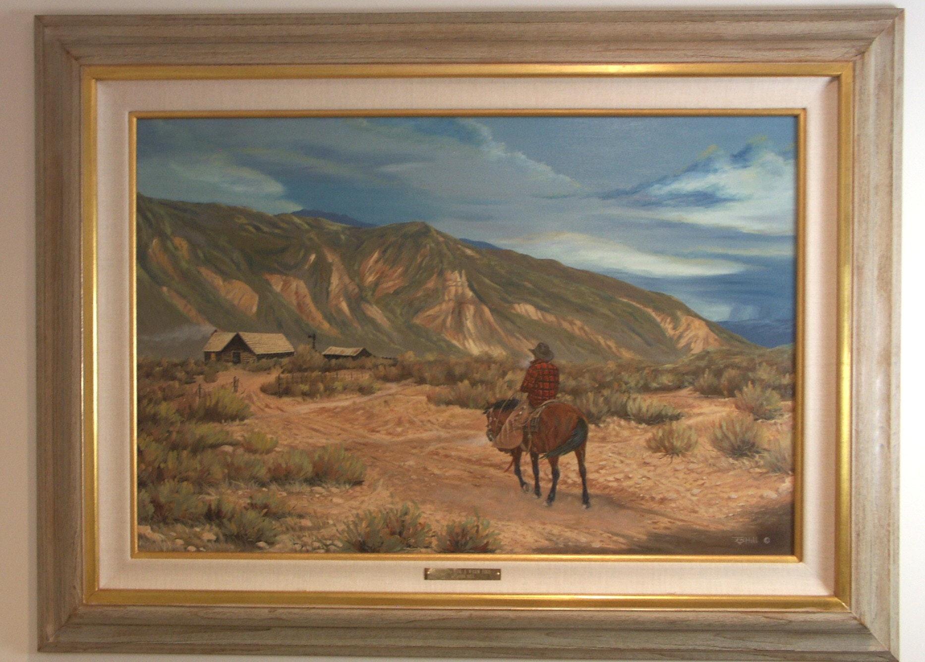 "John W. Hill Original Oil ""Heading For a Warm Fire"""
