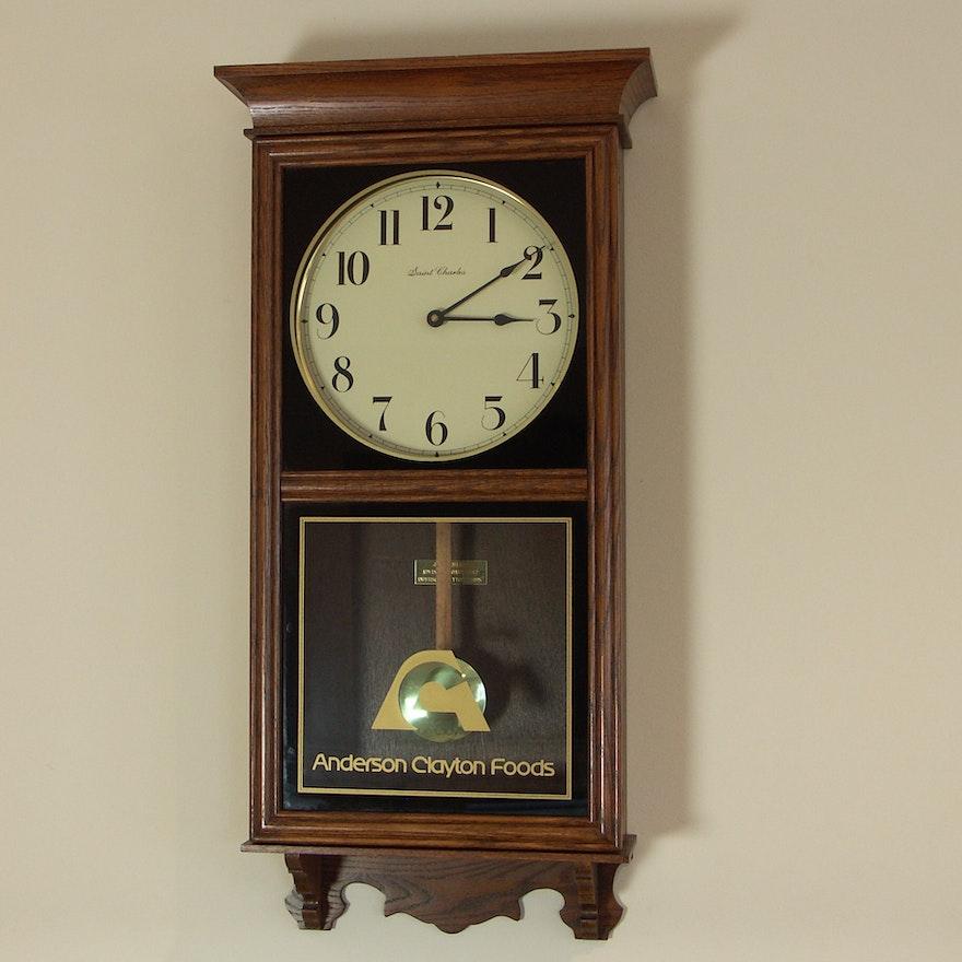 Large Oak Finish Wall Clock