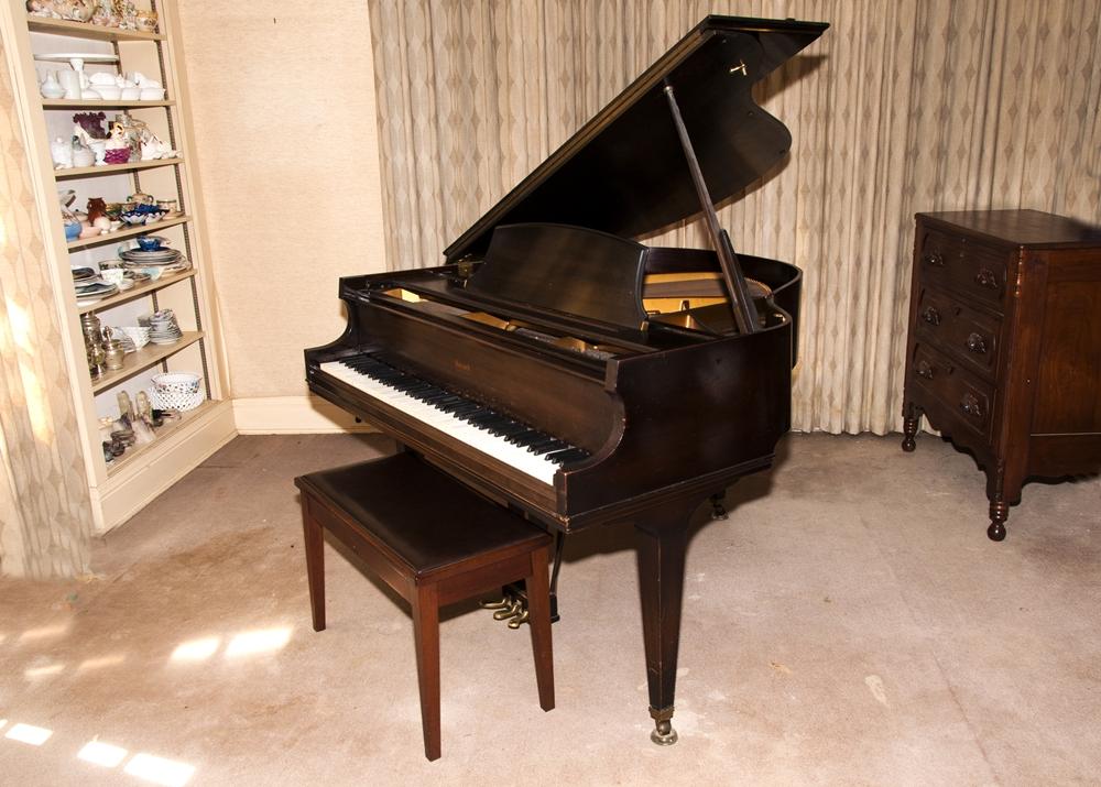 Howard Baby Grand Piano, Circa 1930's, Built By Baldwin : EBTH