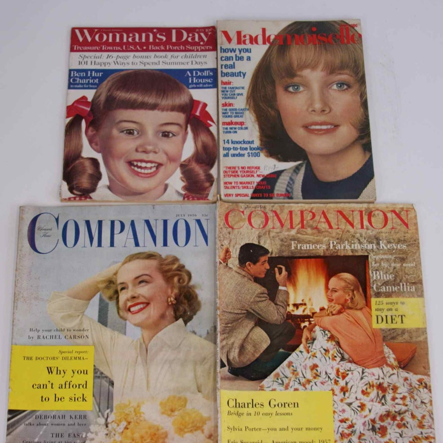286f88469c940 Lot of Women's Magazines 50's 60's