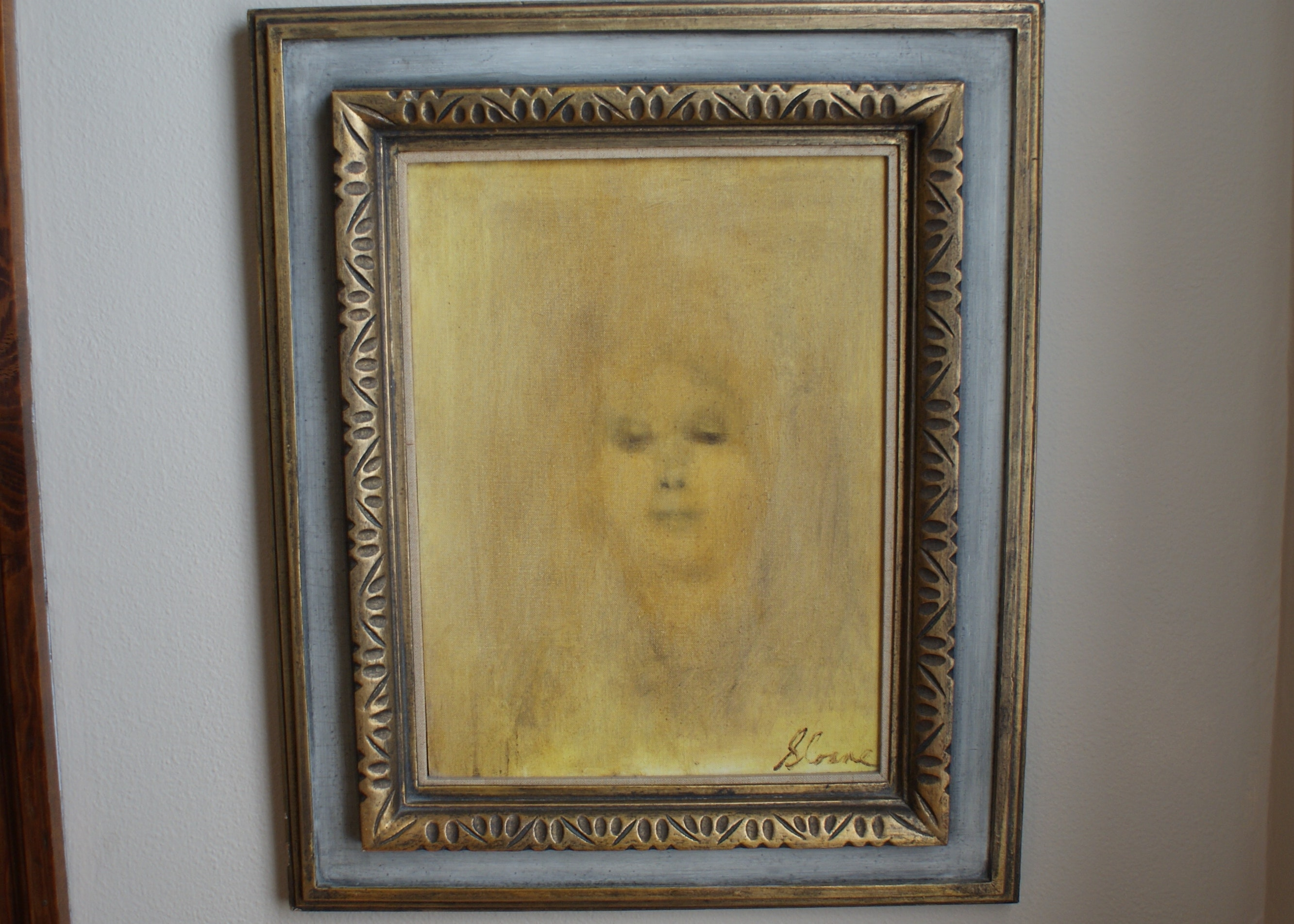 Original Oil On Canvas Of Ghostly Lady