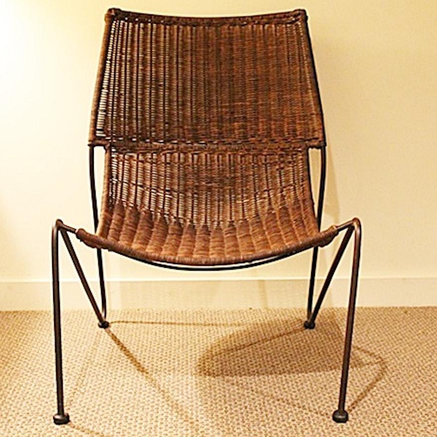 Wrought Iron Woven Rattan Chair