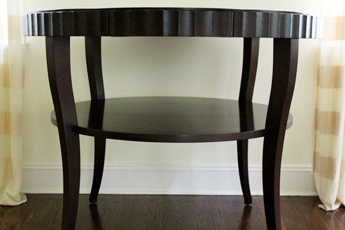 Barbara Barry Collection By Baker Large Mahogany Round Side Table ...