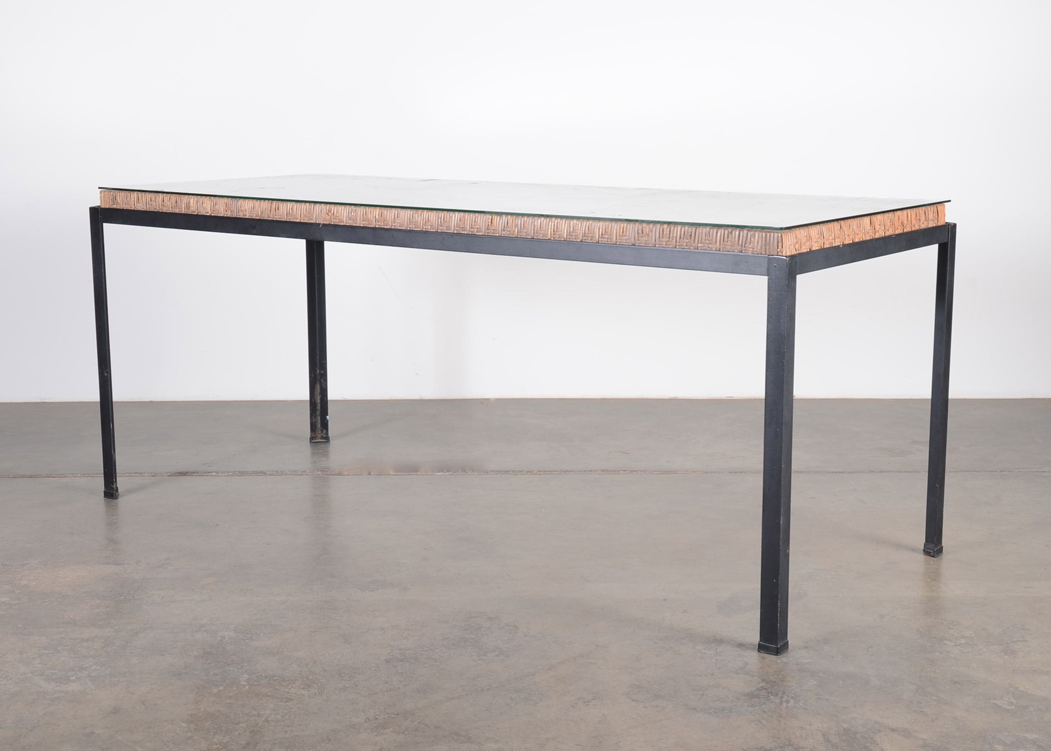"""Mid Century Danny Ho Fong """"Osetsu Dai"""" for Tropical Outdoor Dining Table"""