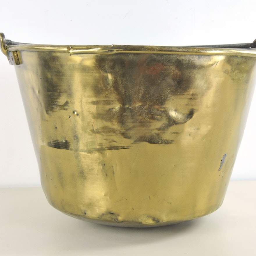 Primitive American Brass Kettle Manufacture Brass and Copper Kettle