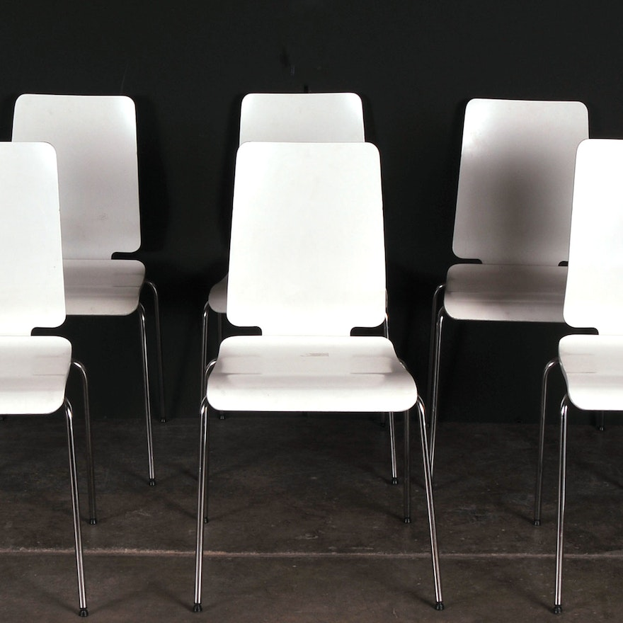 Set Of Six Ikea Gilbert Chairs Ebth