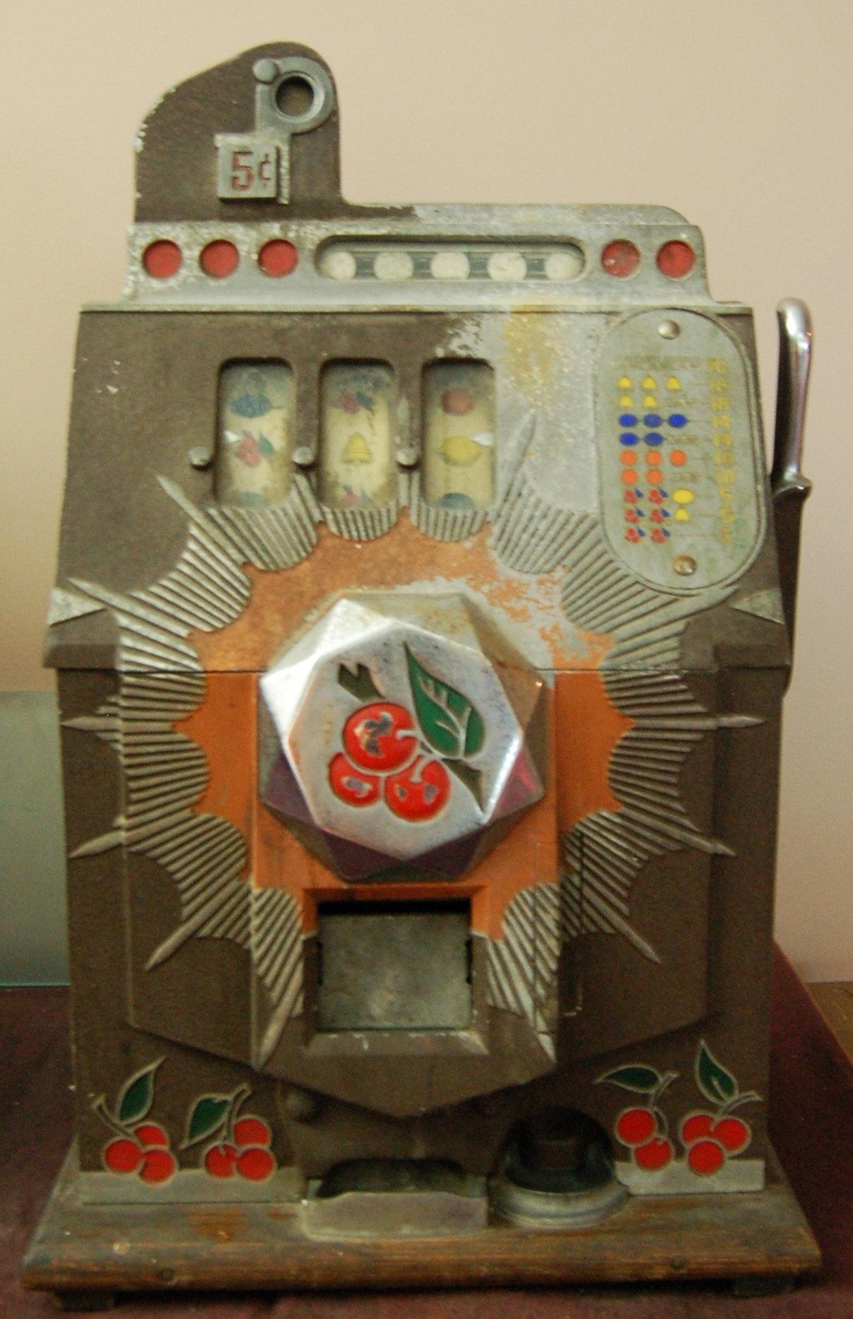 Mills Bursting Cherry Nickel Slot Machine