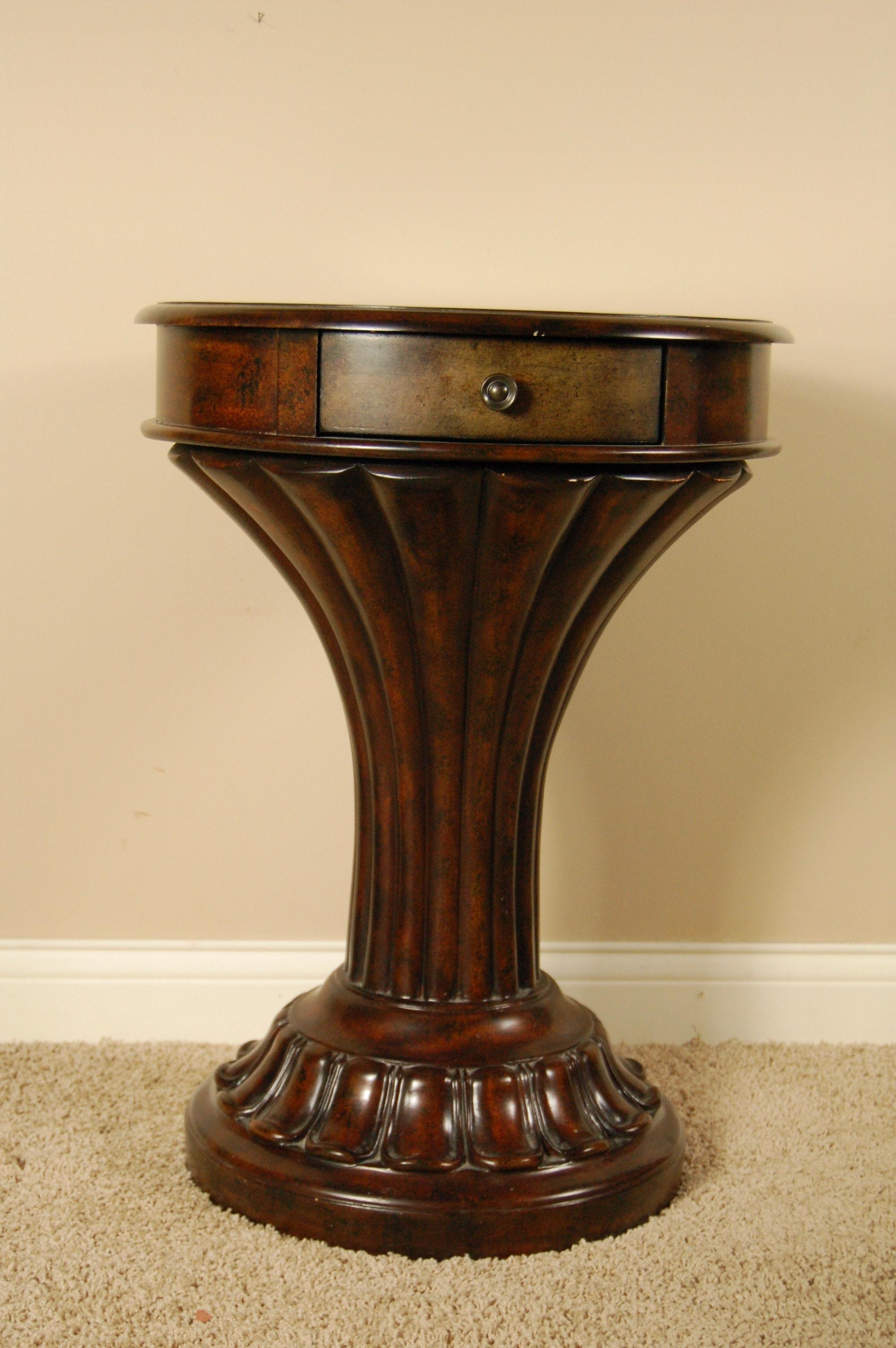 Single Drawer Pedestal Side Table