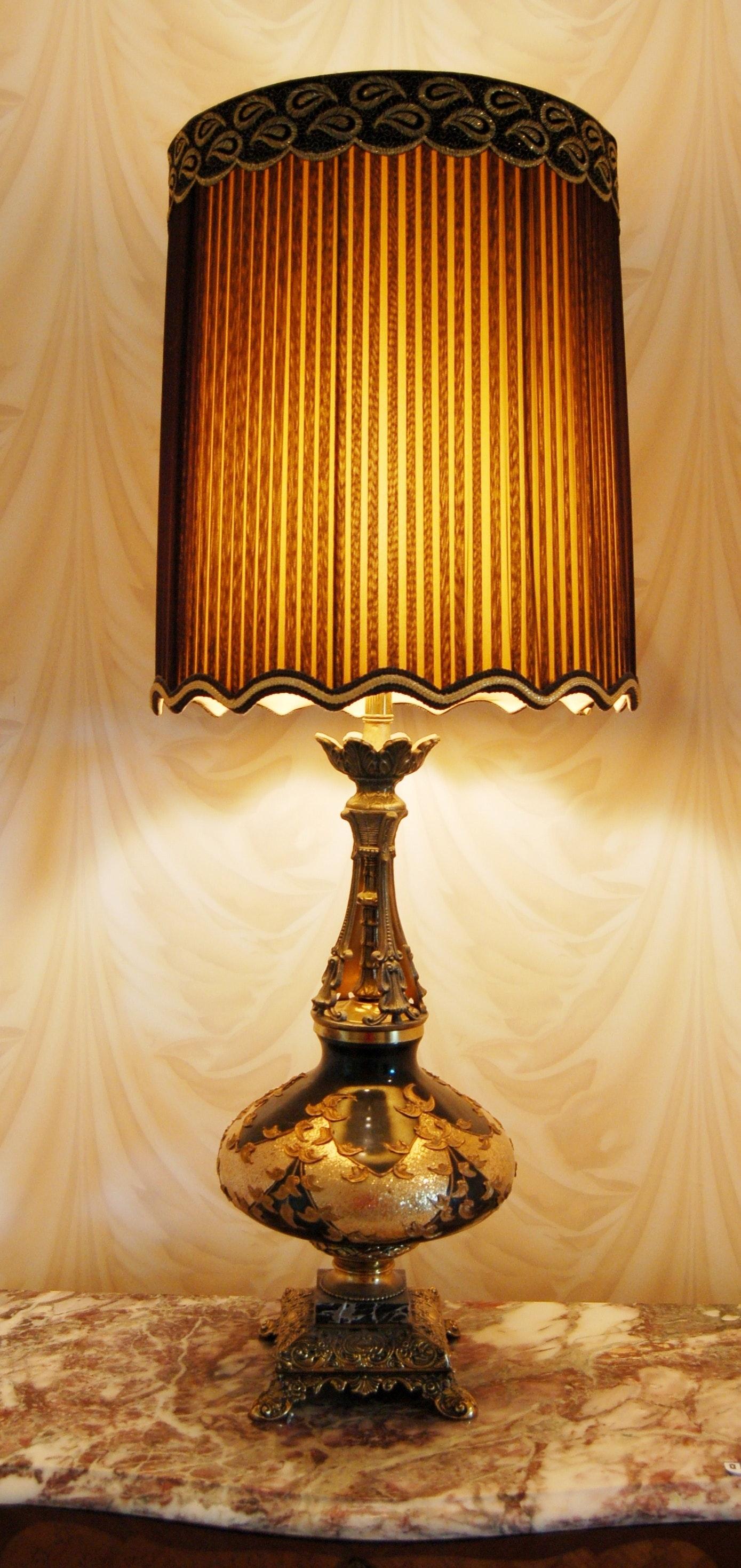 Brass Boudoir Table Lamp