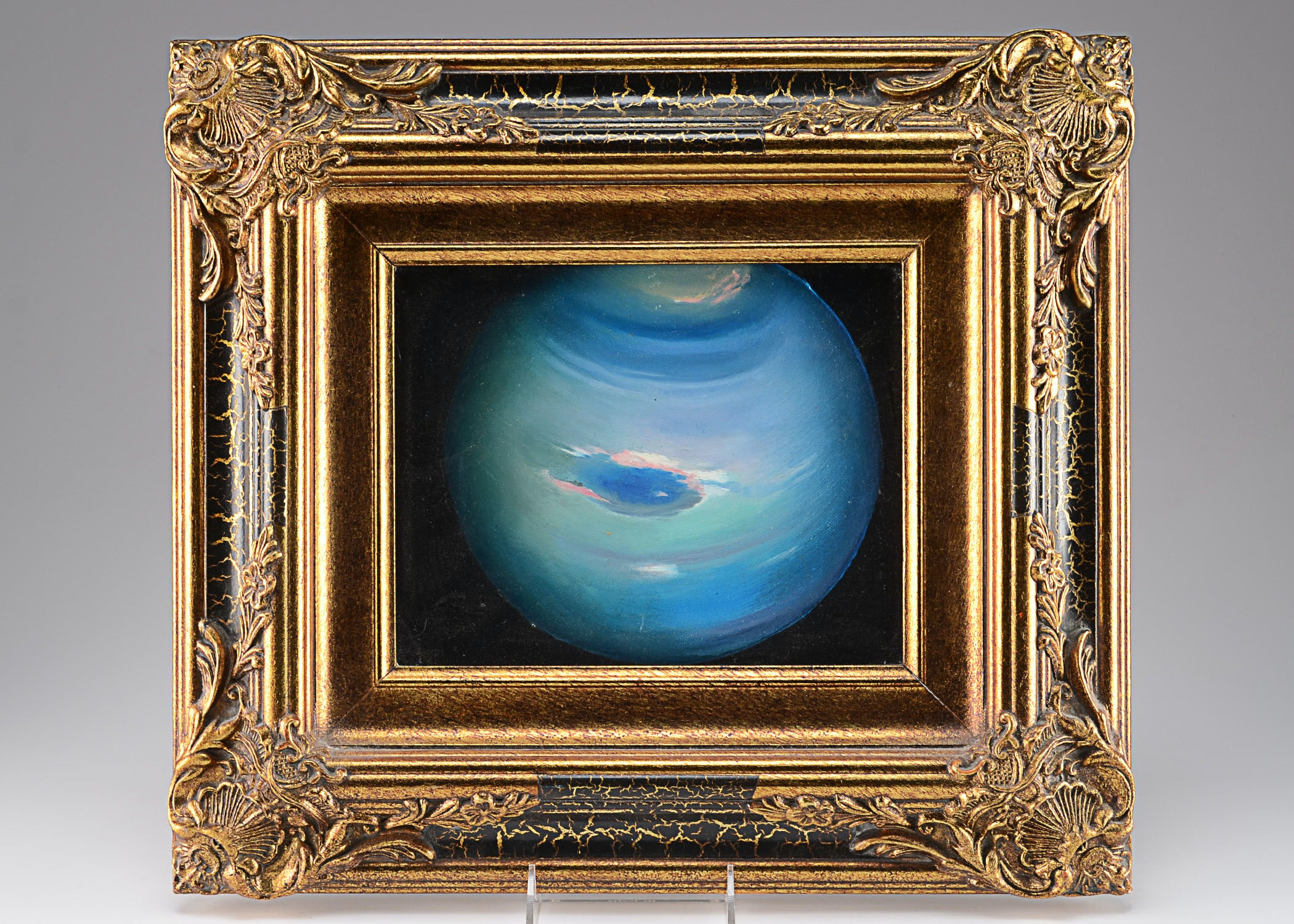 "Tom Lohre Oil on Canvas titled ""Neptune"""