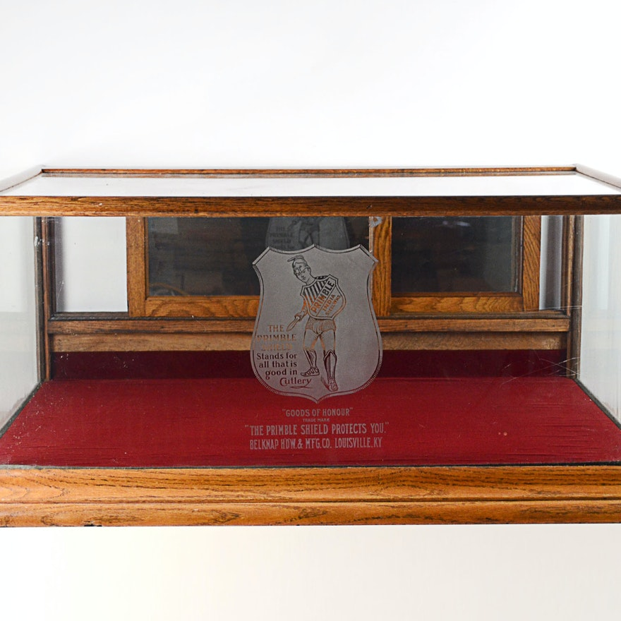 Stunning Belknap Hardware Wood Table Top Showcase