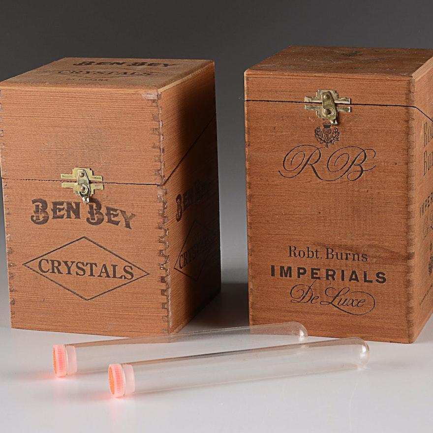 Vintage Wooden Cigar Boxes
