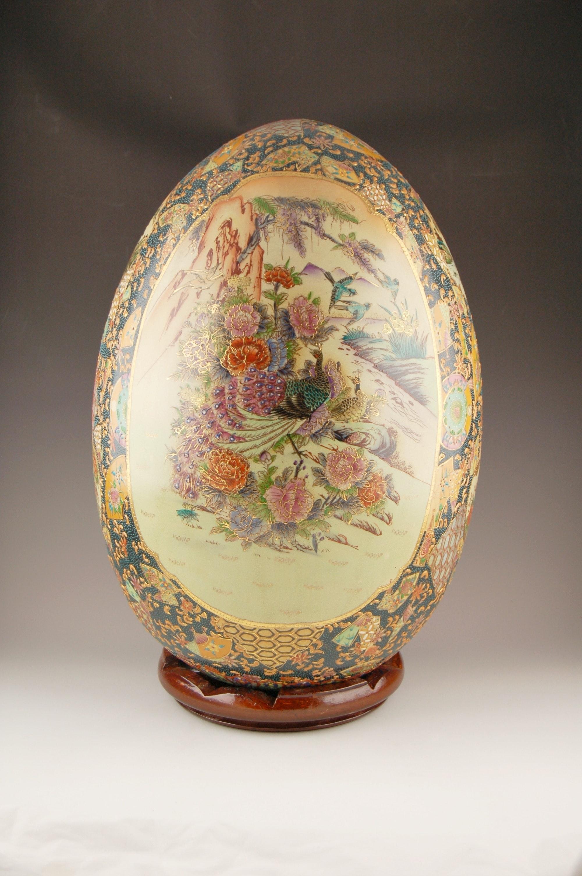 Handpainted Japanese Porcelain Egg