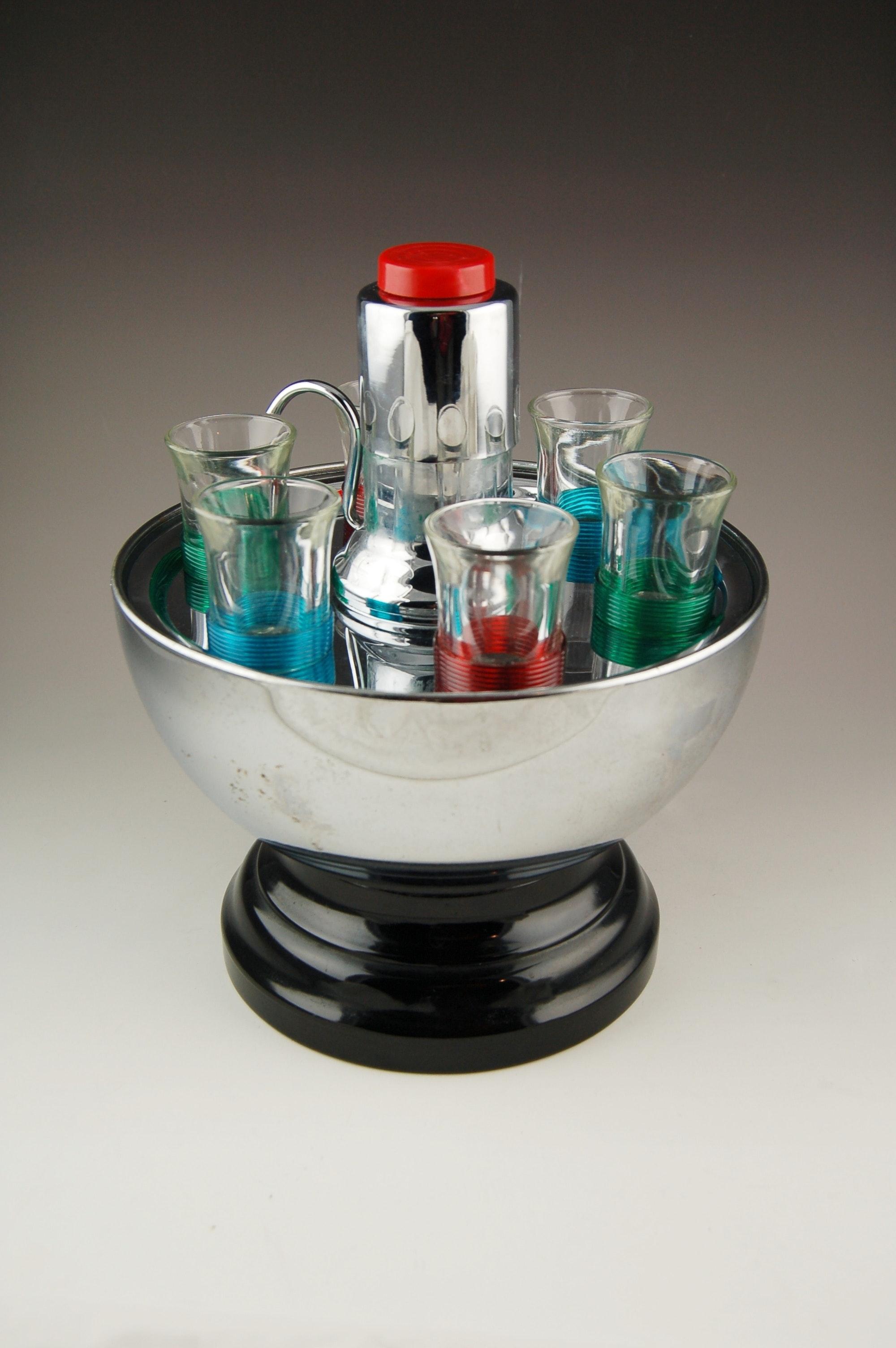 Vintage Chrome Dome Liquor Dispenser