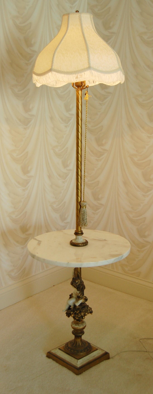 Italian Provencial Style Marble Floor Lamp