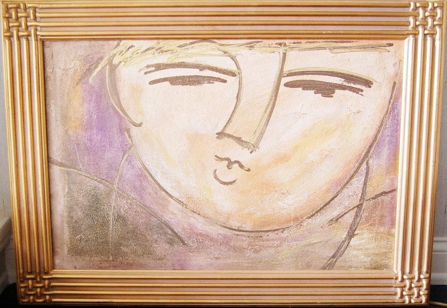 Mid 20th Century Portrait Painting