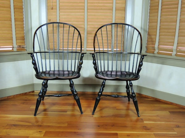 Pair Of Windsor Sack Chairs By D.R. Dimes