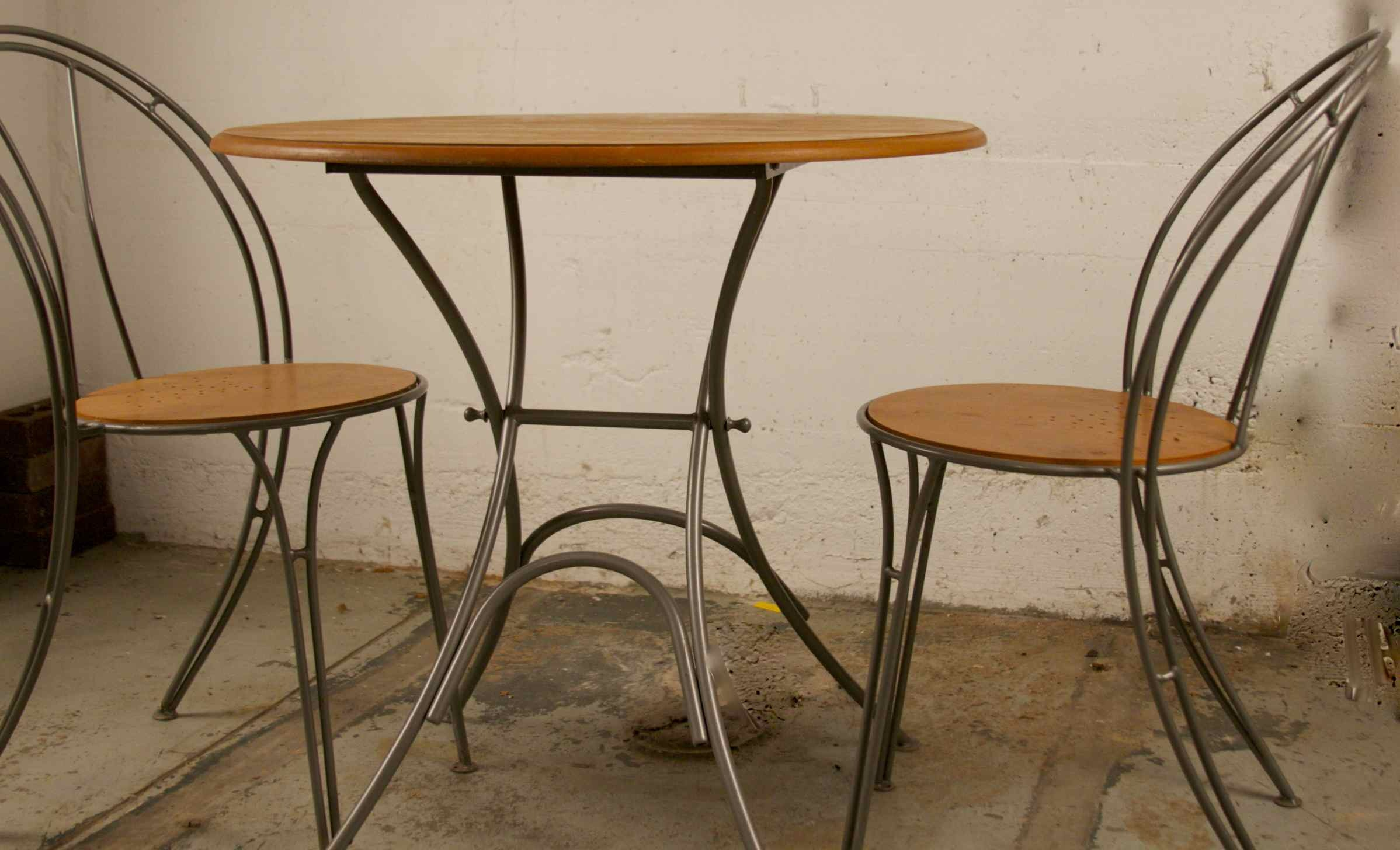 Wooden Bistro Table And Chairs