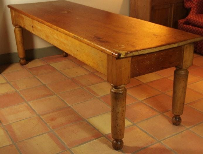 Large Antique Pine Kitchen Table