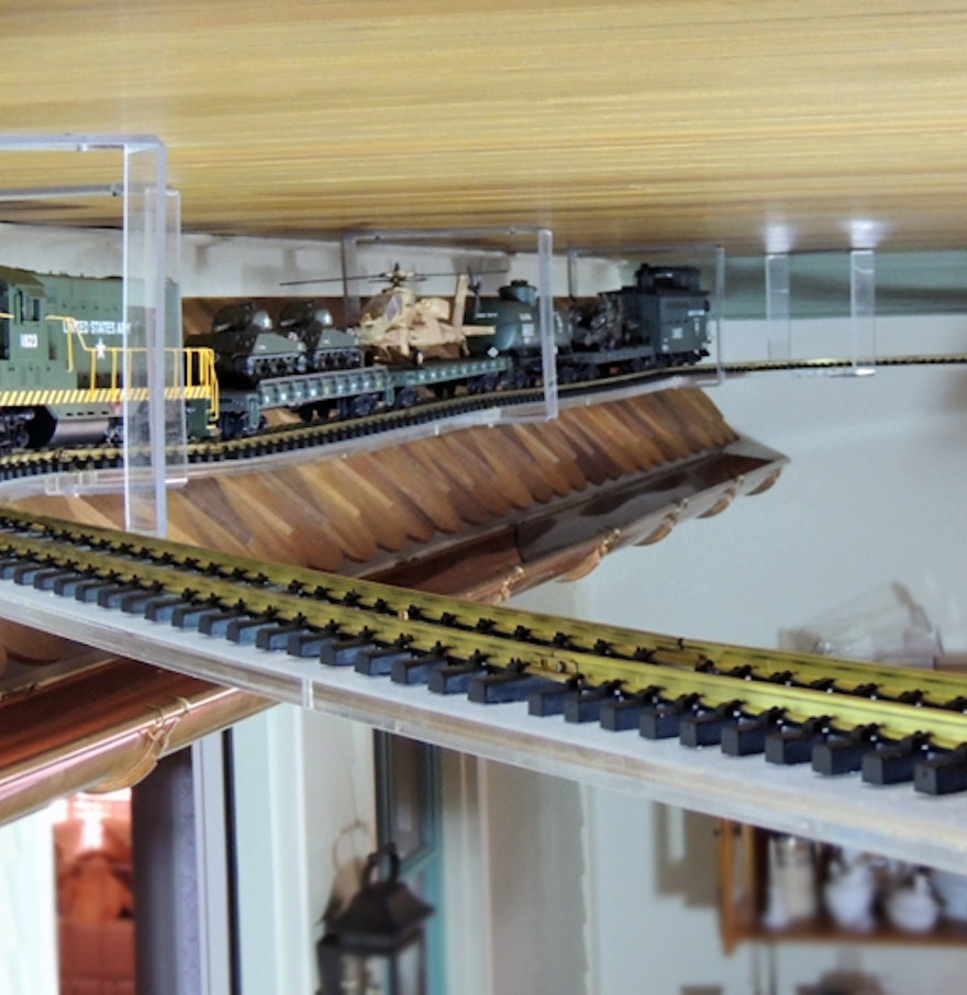 Acrylic Suspended Track System For Garden Scale Train Ebth