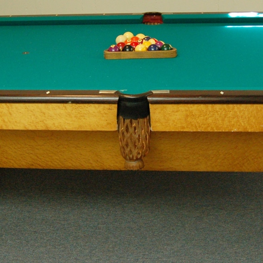 BrunswickBalkeCollender Monarch Cushions Pool Table EBTH - Brunswick monarch pool table