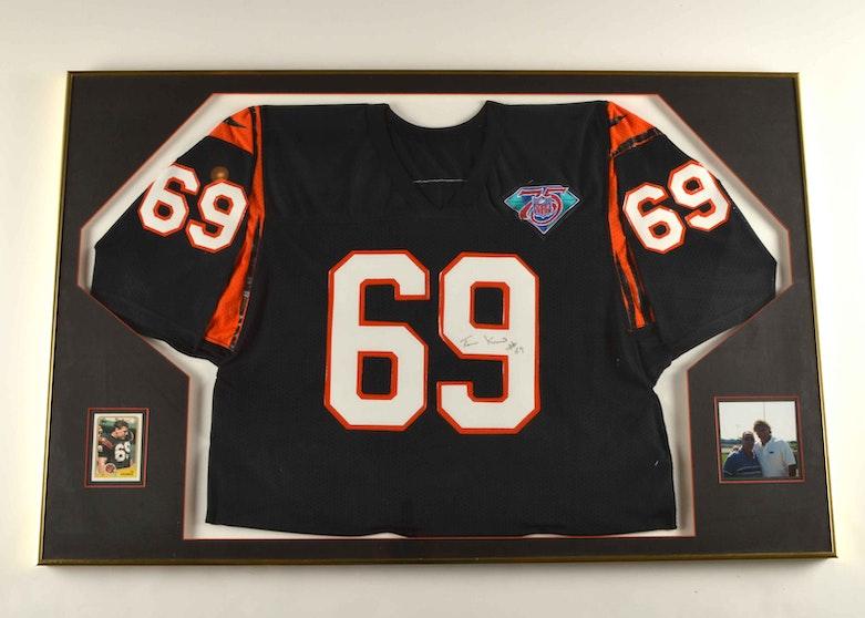 ef2d488f Tim Krumrie Game Used NFL Cincinnati Bengals Framed Jersey