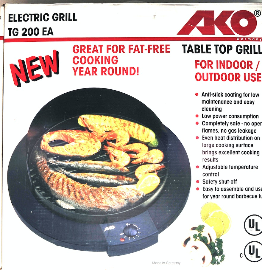 AKO Table Top Grill for Indoor or Outdoor Use : EBTH