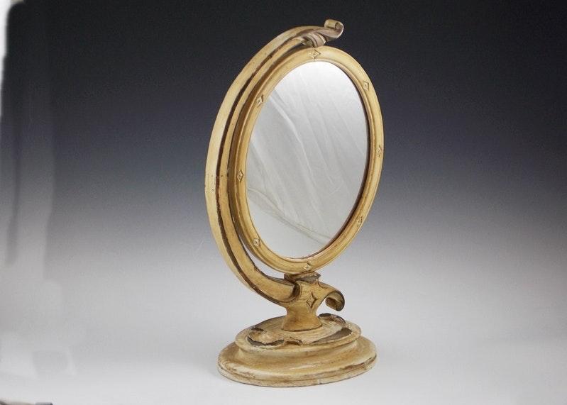 vintage oval free standing vanity mirror ebth