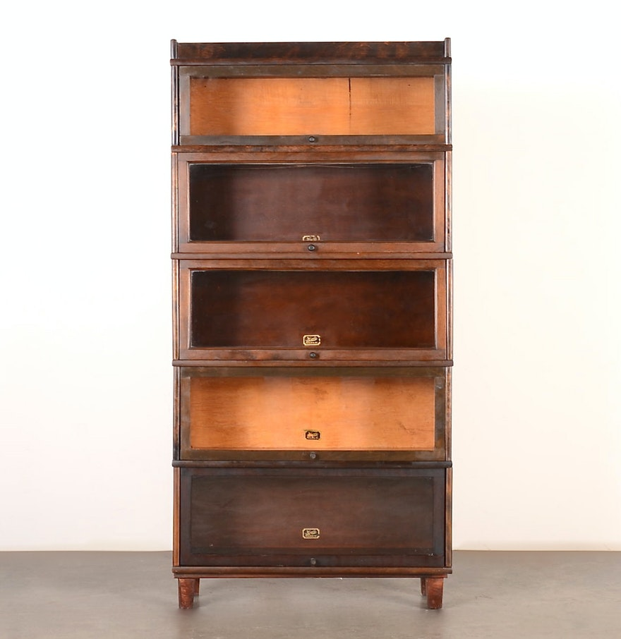 Early 20th Century Hale By Herkimer Barrister Bookcase