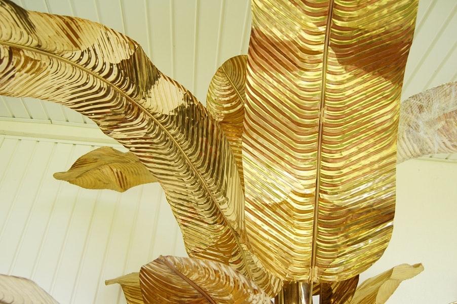 Decorative Brass Banana Tree