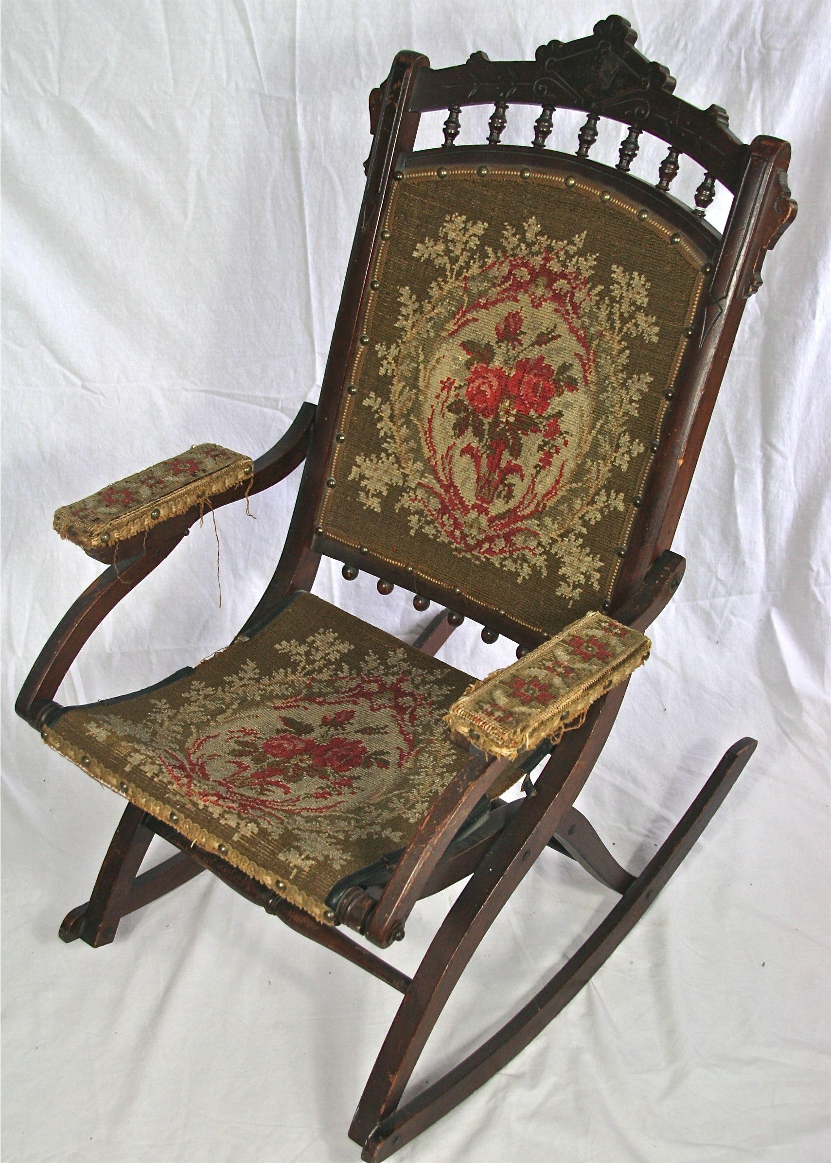 Antique Eastlake Victorian Folding Rocking Chair : EBTH