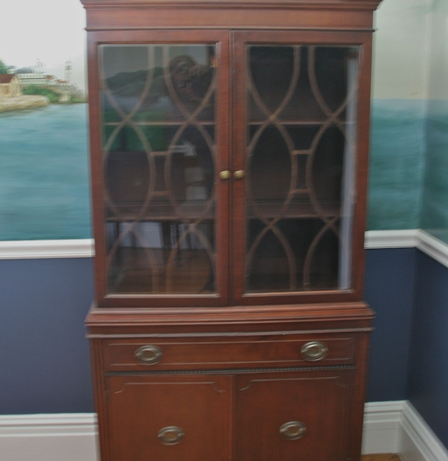 antique federal style china cabinet ebth