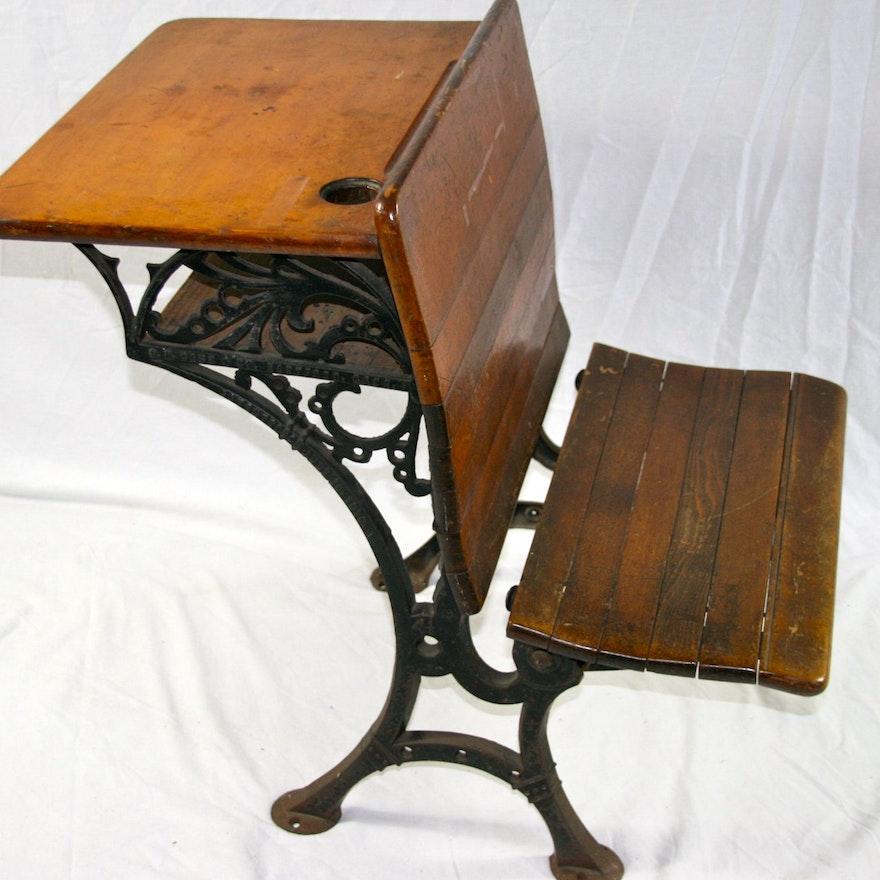 Vintage O.D. Case & Co. Student Desk ... - Vintage O.D. Case & Co. Student Desk : EBTH