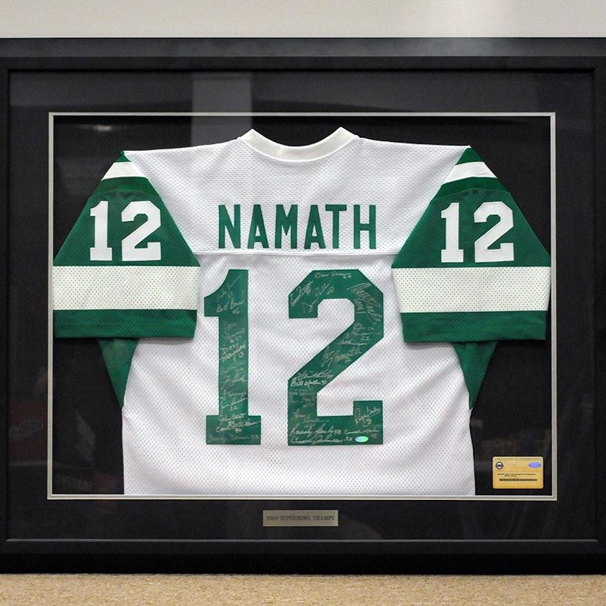 Framed 1969 Super Bowl Championship Team Autographed Joe Namath New York  Jets   EBTH 81ba480a0