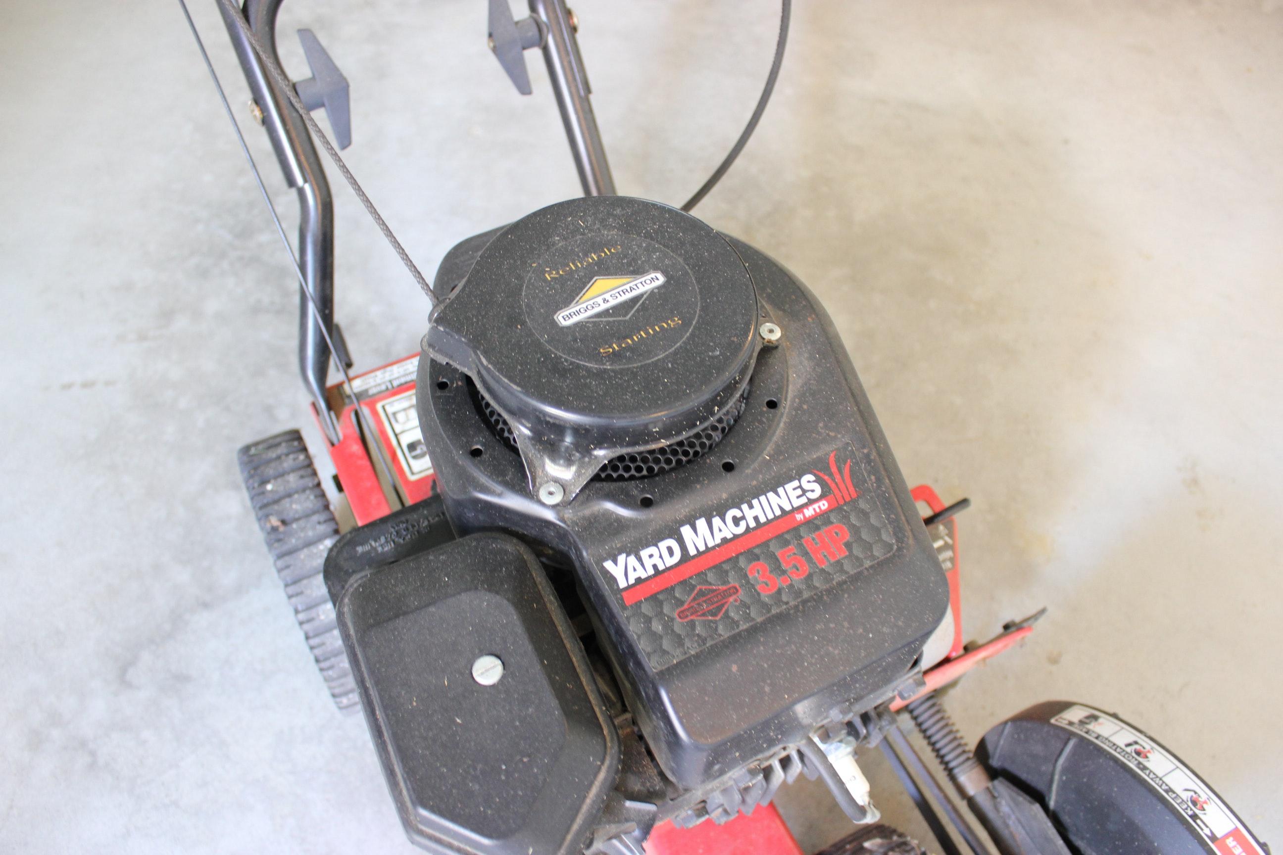 yard machine 3 5 hp edger