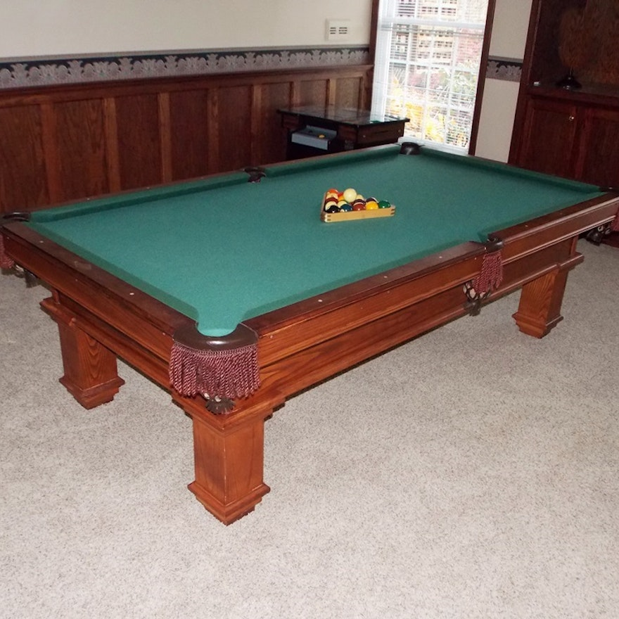 Peter Vitalie Pool Table With An Oak Base EBTH - Pool table base