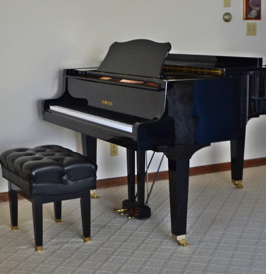 Yamaha gh1 baby grand piano 5 39 3 ebth for Yamaha piano baby grand
