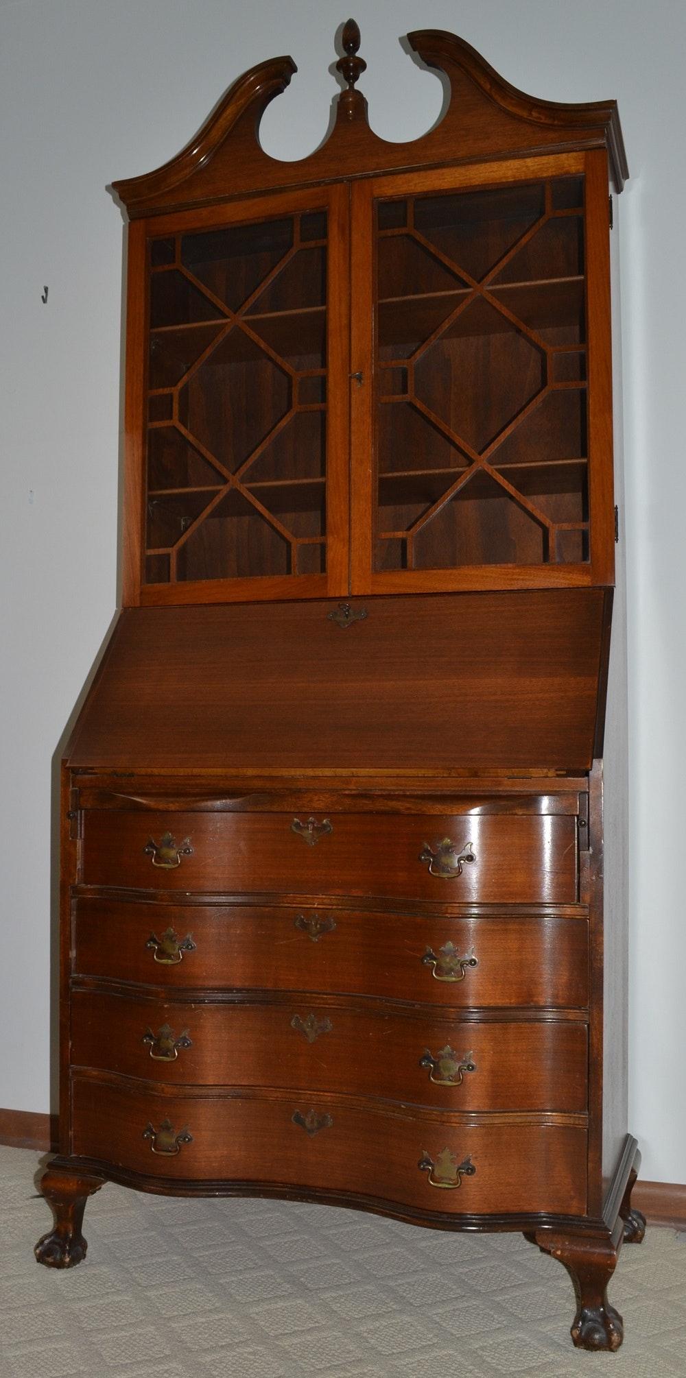 Attirant Vintage Skandia Furniture Secretary With Bookcase ...