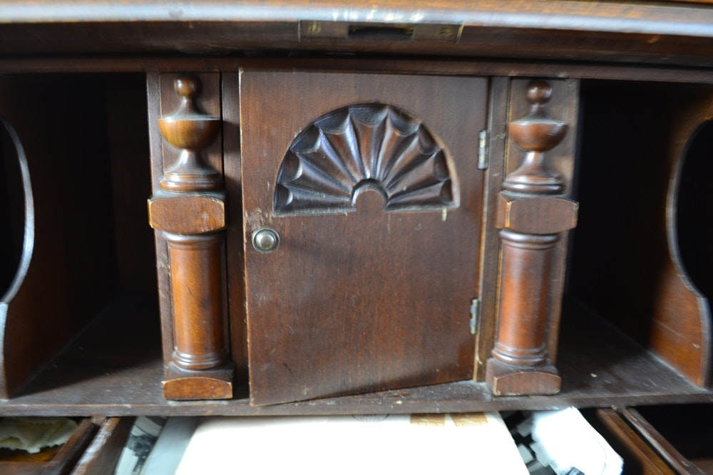 Vintage Skandia Furniture Secretary With Bookcase Ebth