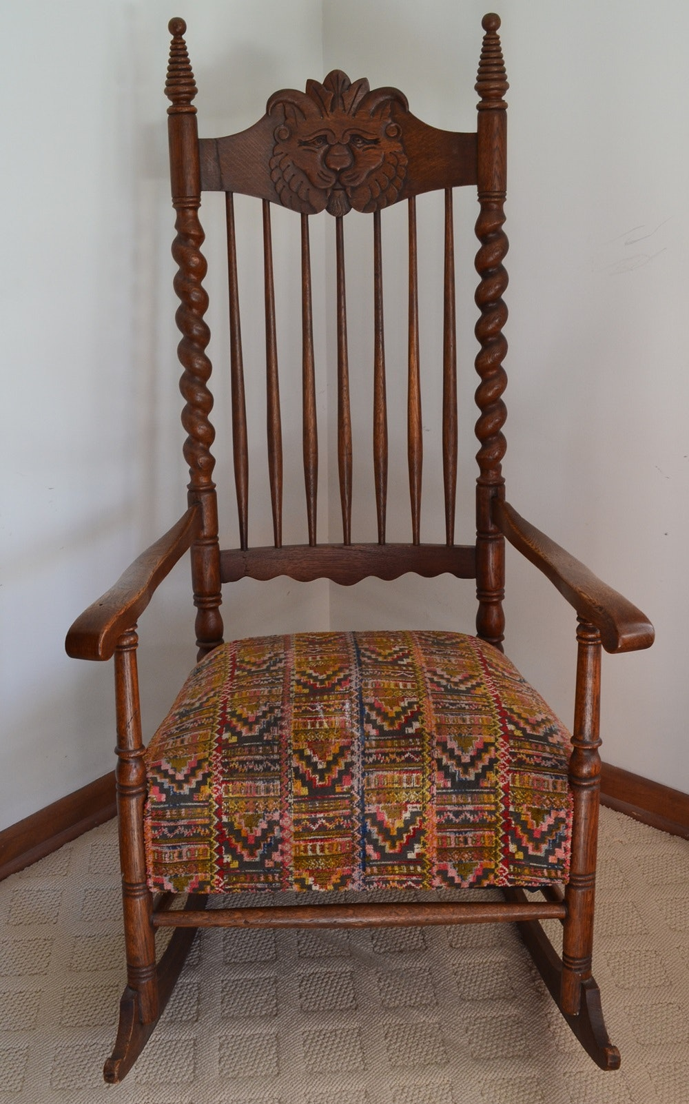 Unique Late Victorian Carved Rocker Circa 1880-1900 & Vintage Chairs Antique Chairs and Retro Chairs Auction in ...