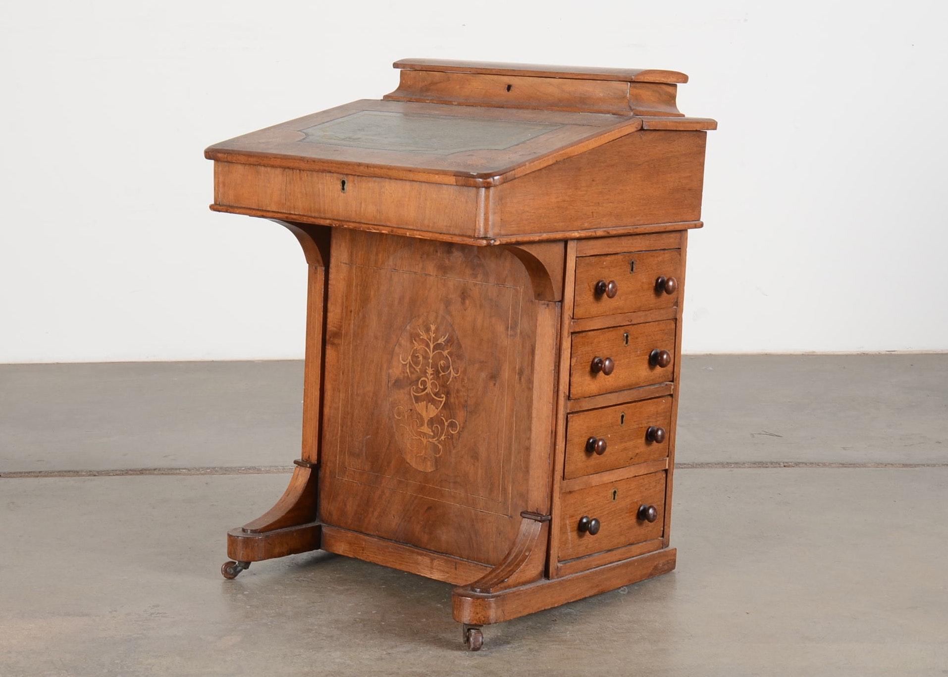 Antique Captain S English Davenport Desk Ebth